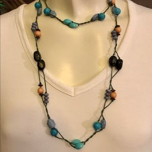 Handmade Beautiful Long Colorful Beaded Necklace